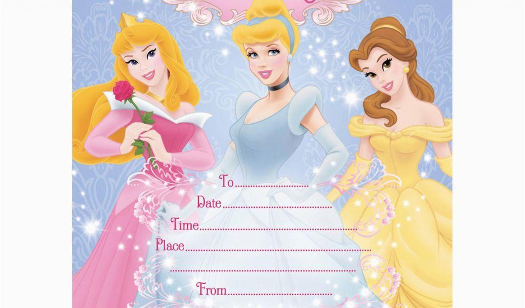 Disney Princess 1st Birthday Invitations Princess Birthday