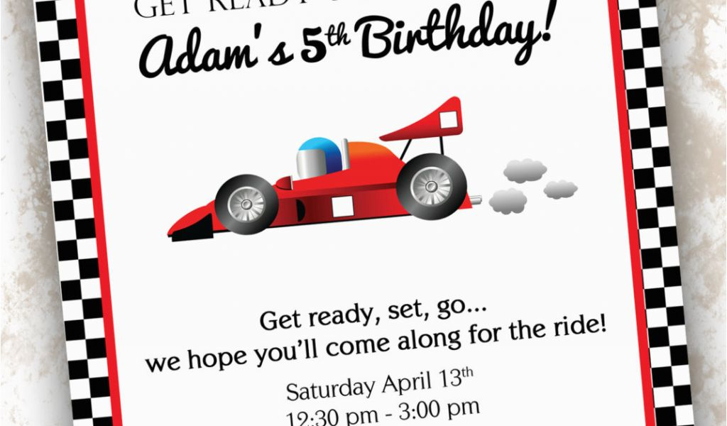 Free Printable Race Car Birthday Invitations 5 Best Images Of Race