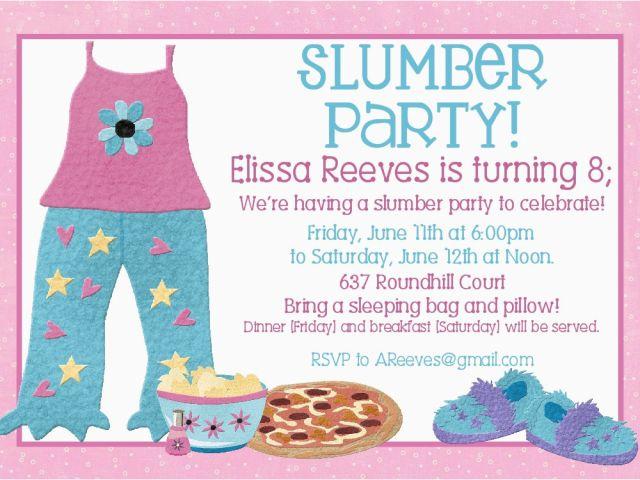 Free Printable Slumber Party Birthday Invitations Free Printable