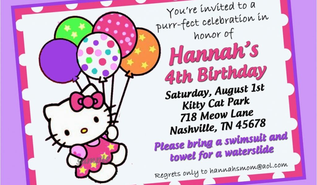 How to Design A Birthday Party Invitation How to Create Hello Kitty