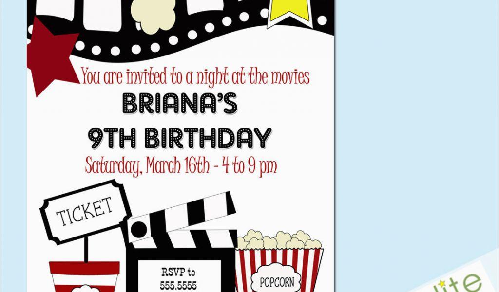 Movie Night Birthday Invitations Free Printable 40th Birthday Ideas