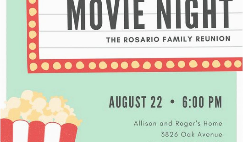 Movie Night Birthday Invitations Free Printable Customize 646