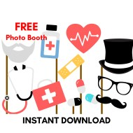 Free Doctor Photobooth Props