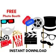 Free Movie Photobooth Props