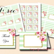 Free Mint and Floral Printable