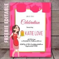 Free editable birthday invitations birthday party ideas themes free editable kitchen bridal shower invitation cooking birthday stopboris Images