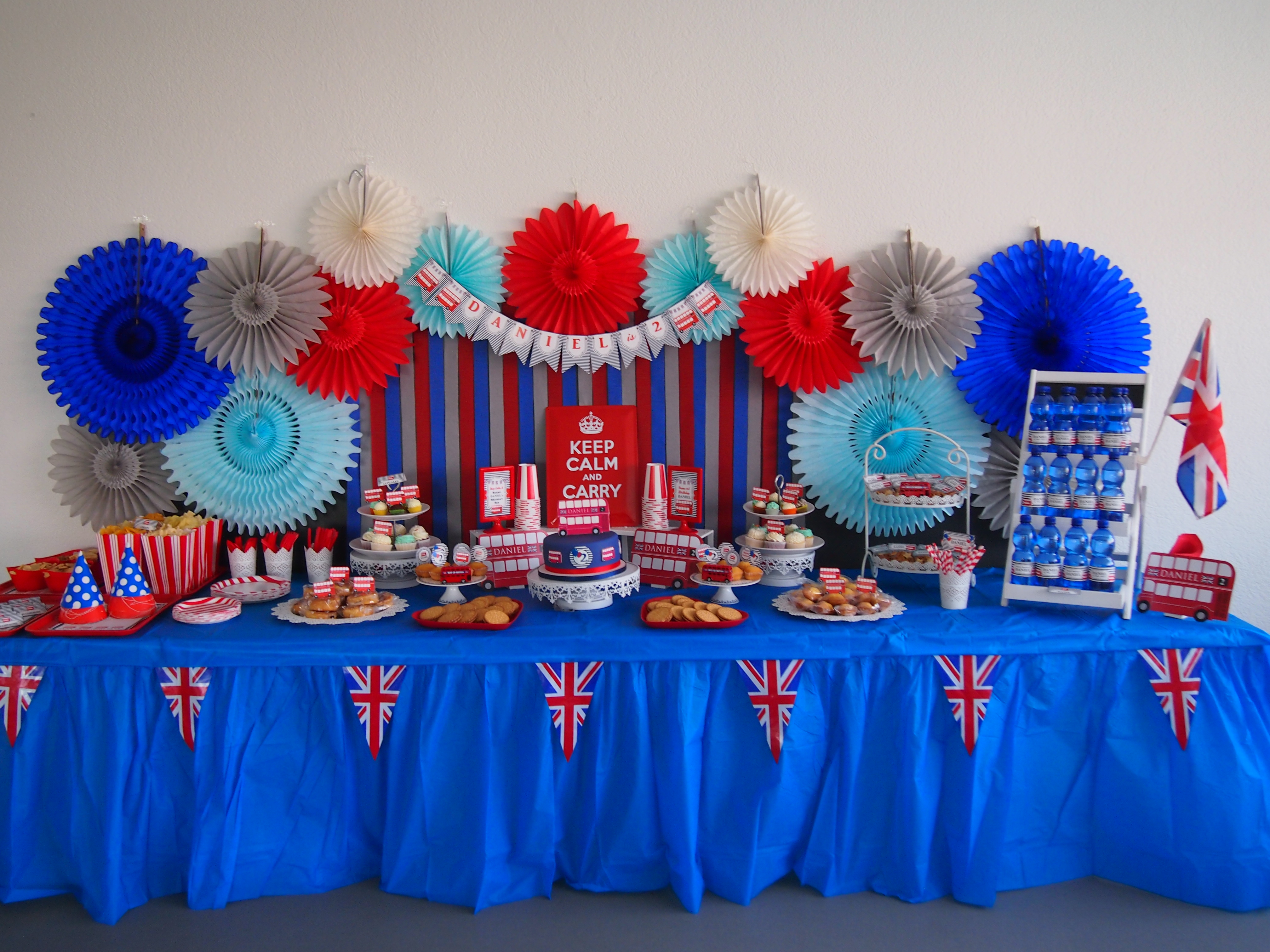 Red And Blue London Bus Birthday Party Ideas
