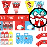 FREE Dr Seuss Thing 1 Thing 2 Twins Party Printable