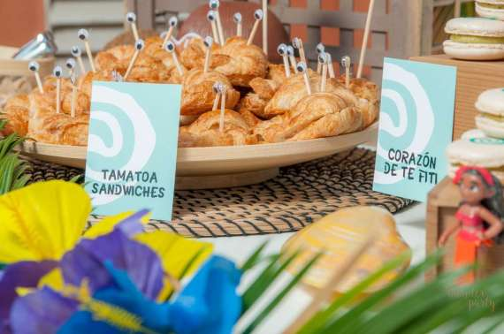 Moana-Tropical-Birthday-Party-Crescent-Sandwiches