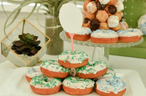 Palm-Springs-Inspired-Retro-Golf-Party-Donut-Tower