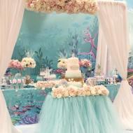 mermaid birthday candy bar tablescape