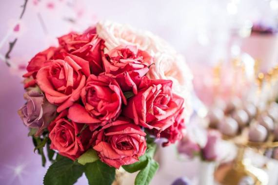 Colorful-Secret-Garden-Birthday-Party-Flower-Bouquet