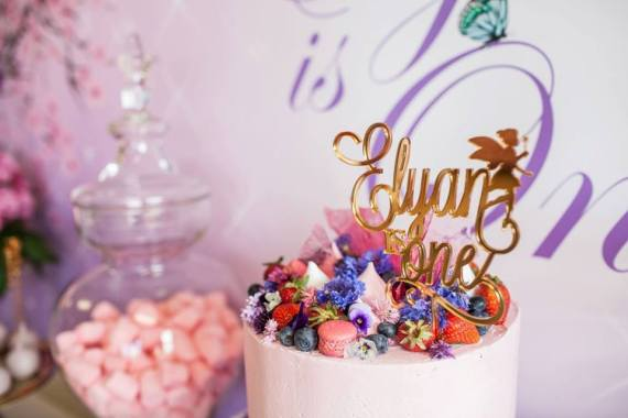 Colorful-Secret-Garden-Birthday-Party-Gold-Topper