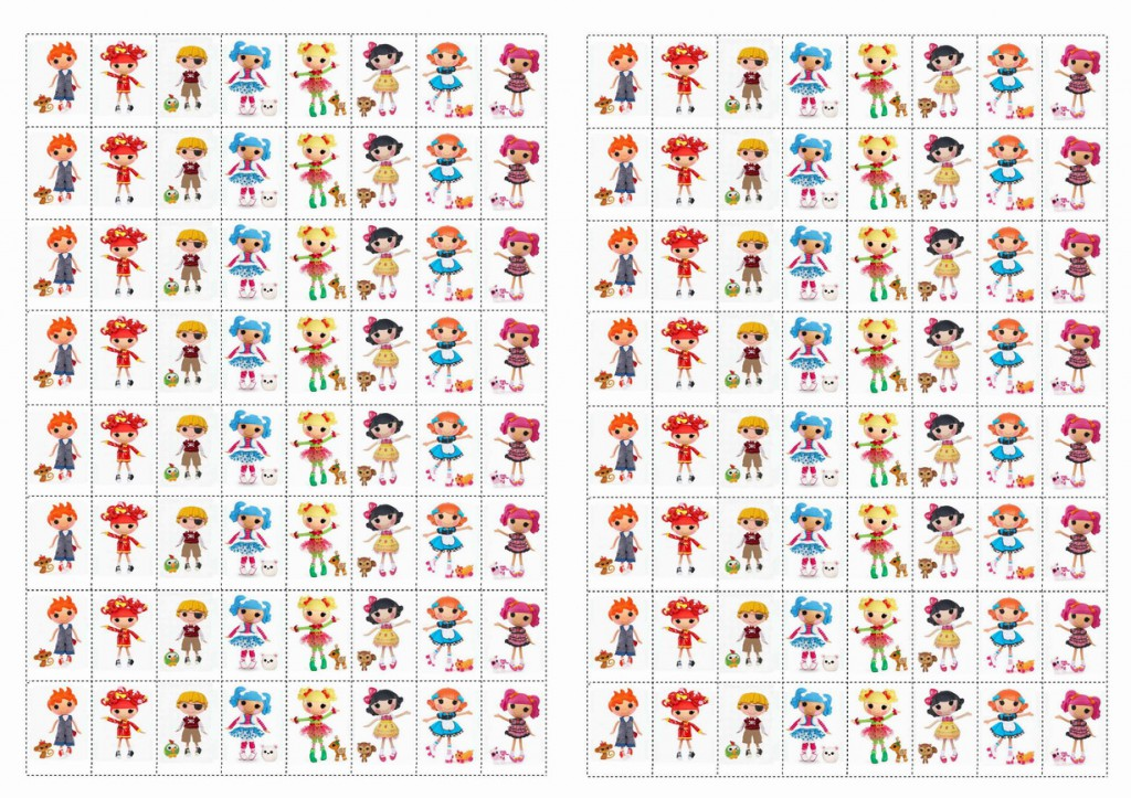 Lalaloopsy Stickers Birthday Printable