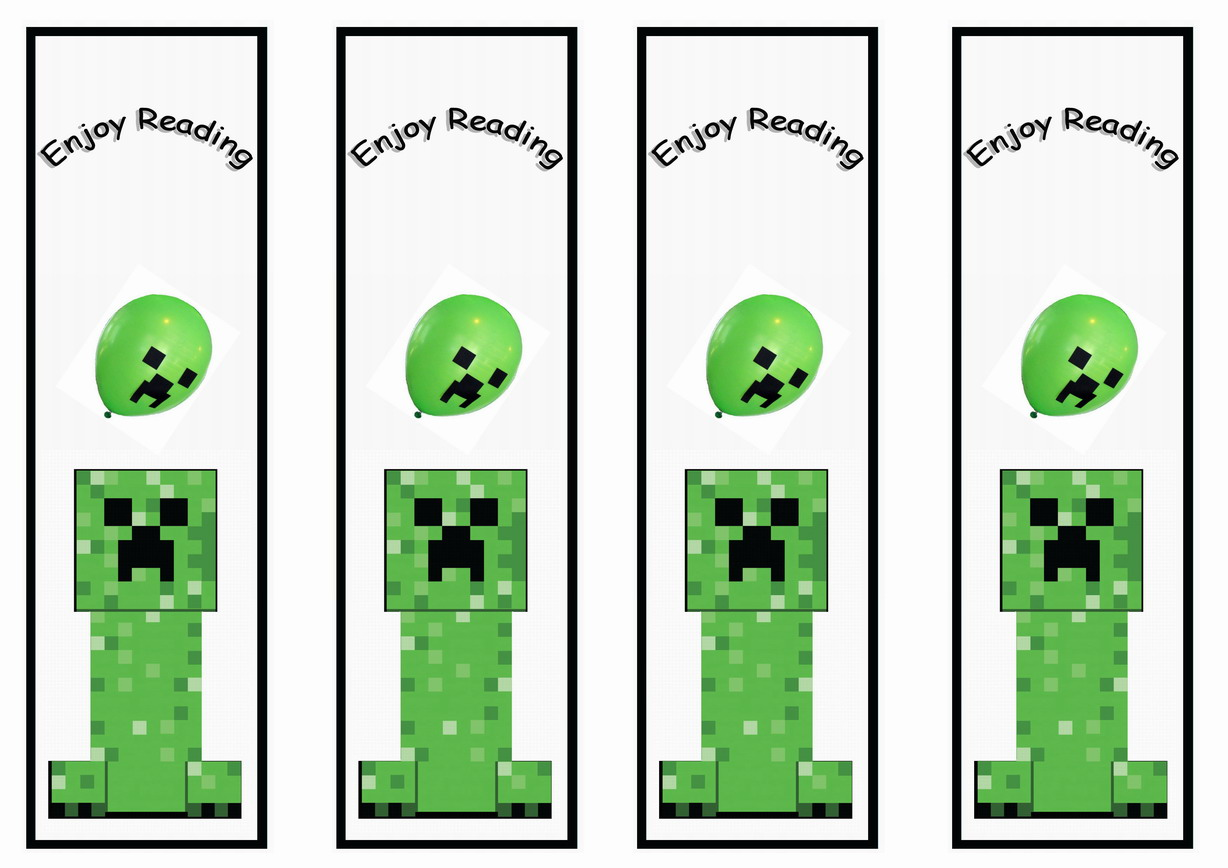 Wallpaper Cupcake Cute Minecraft Bookmarks Birthday Printable