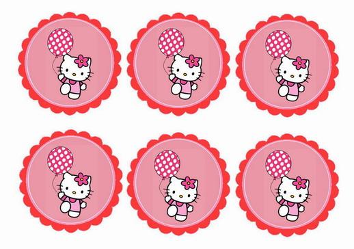 Hello Kitty \u2013 Cupcake Toppers Birthday Printable