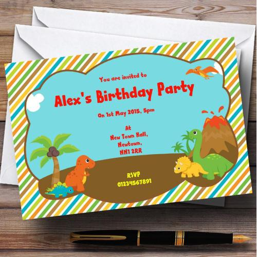 Medium Crop Of Dinosaur Birthday Invitations