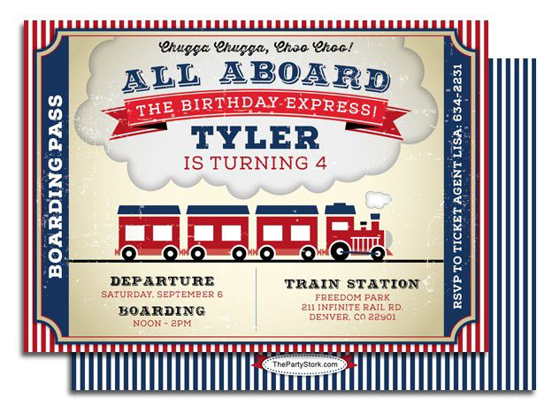 9 Train Birthday Invitations For Kid Free Printable