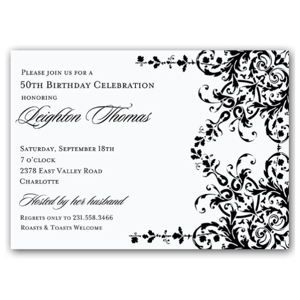 10+ Elegant Birthday Invitations Ideas \u2013 Wording Samples Birthday - birthday invitations sample