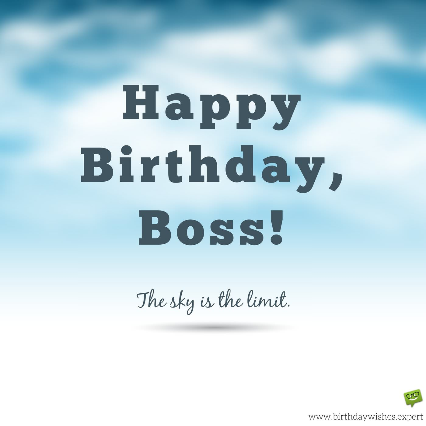 Birthday Greetings To Boss Happy Birthday Boss. The Sky Is The Limit. Wish On Image