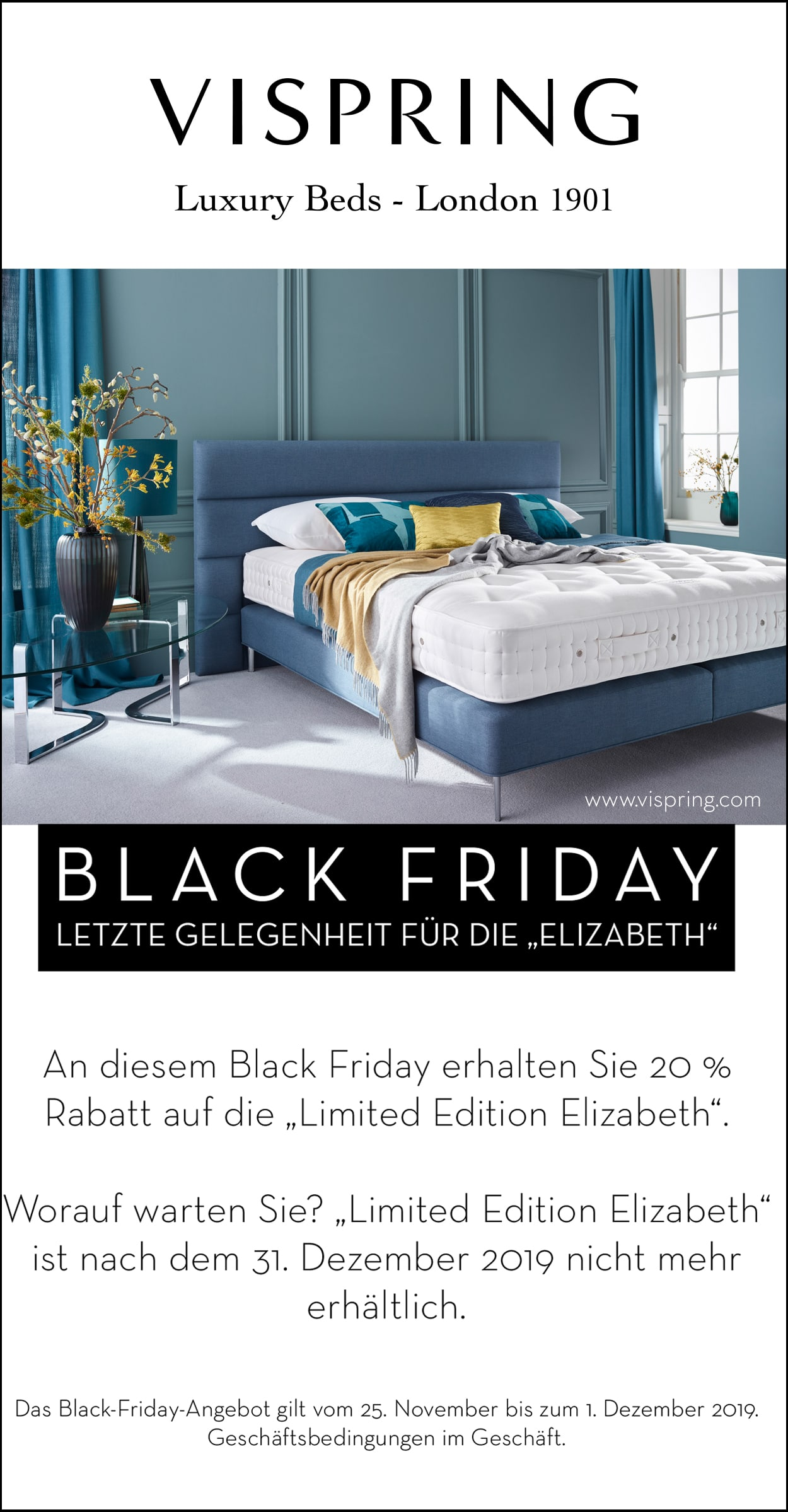 Vispring Black Friday Bischoff Betten