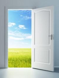 Open the door and look!  Jesus follower