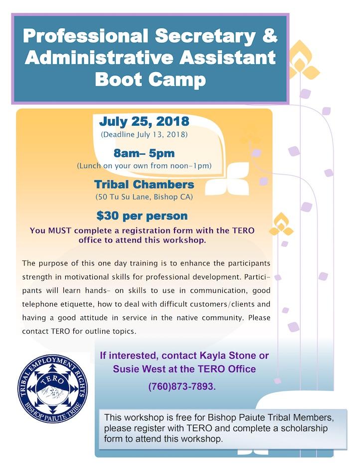Professional Secretary  Administrative Assistant Boot Camp \u2013 July