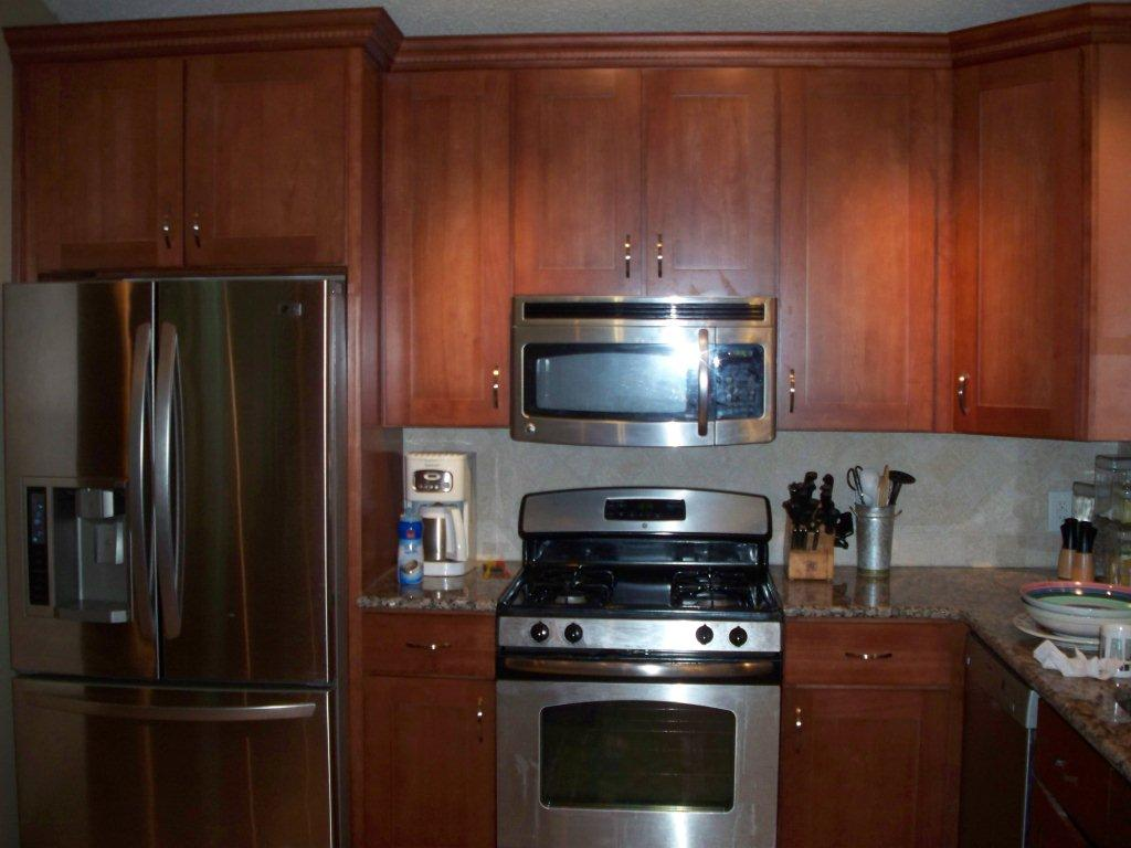 Kitchen Cabinets Around Refrigerator Above Refrigerator Cabinet