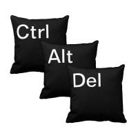 ":: BitBerry.eu :: ""Ctrl-Alt-Del"" Pillow Set - Black"