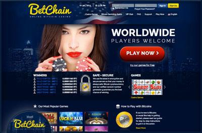 BetChain Casino Website
