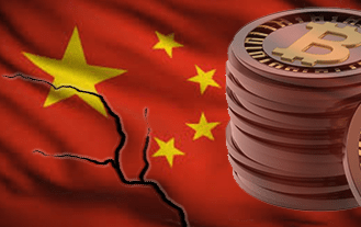 China and Bitcoin price