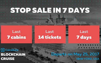 Blockchain Cruise: Only 7 Cabins Left!