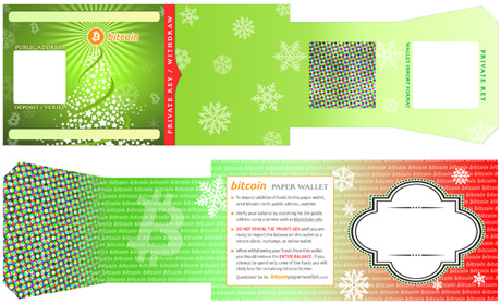 Holiday Themed Paper Bitcoin Wallets (Christmas / New Year)