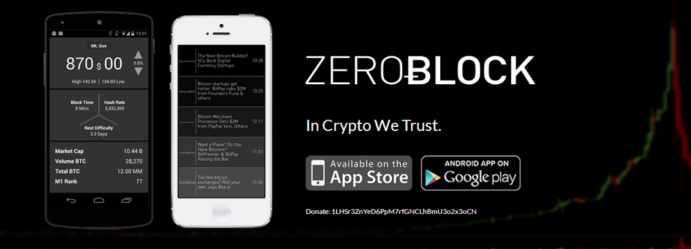 ZeroBock iPhone and Android Bitcoin App