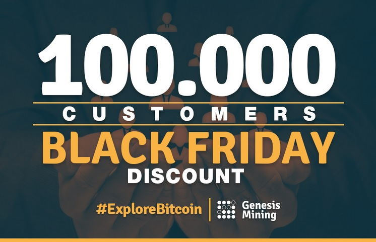 Bitcoin Cloud Mining Provider Genesis Mining Reaches 100,000 Customers, Announces Black Friday Discount