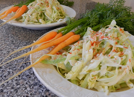 Is it Coleslaw or White Cabbage Chiffonade in Apple Cider Cream?