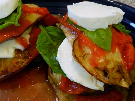 Sicilian Eggplant Stacks on Labour Day Weekend