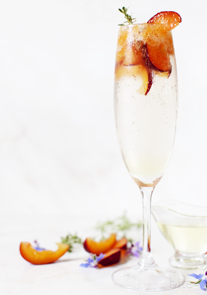plum and thyme bellini - rivals the classic - bite