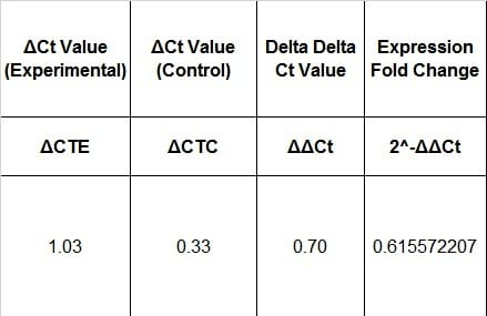4 Easy Steps to Analyze Your qPCR Data Using Double Delta Ct - data analysis template