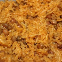 Moro de guandules (pigeon pea rice)
