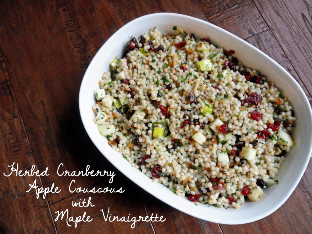 Herbed Cranberry Apple Couscous wih Maple Vinaigrette