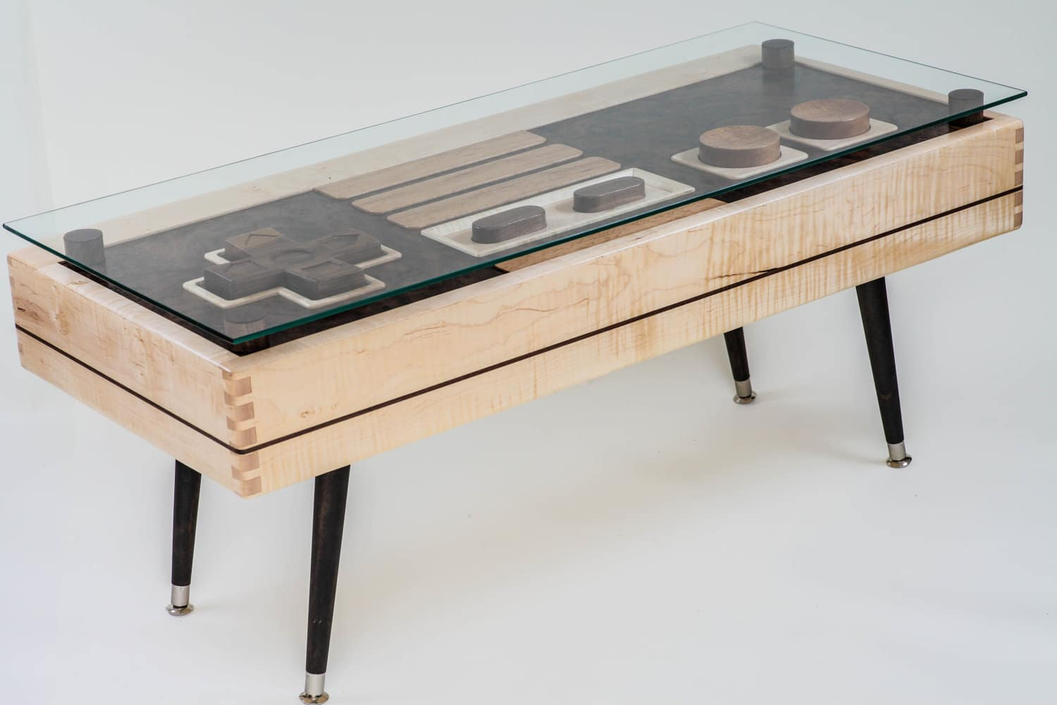 Geeky Coffee Tables Functional Wooden Nes Controller Coffee Table Available