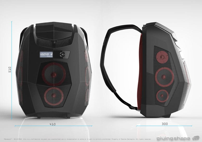 Outdoor Boxen Bluetooth Speaker Backpack Allows You To Take The Party With You