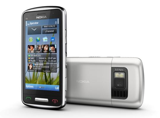 Nokia C6 Nokia lanza tres nuevos smartphones con Symbian^3:  C6, C7 y E7