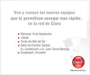 invitacion  300x250 Claro presenta sus equipos 4G en Ecuador