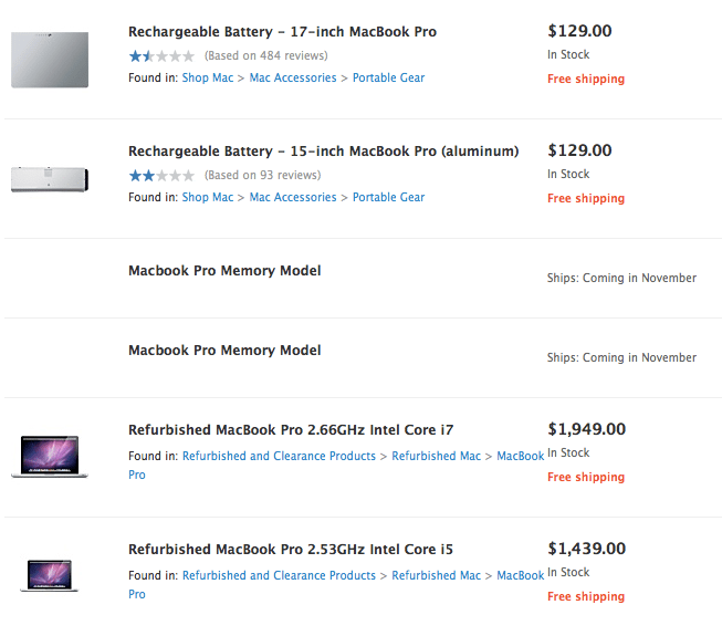 macbook pro memory model Macbook Pro, ¿Memory Model? se filtra en Apple Store en linea
