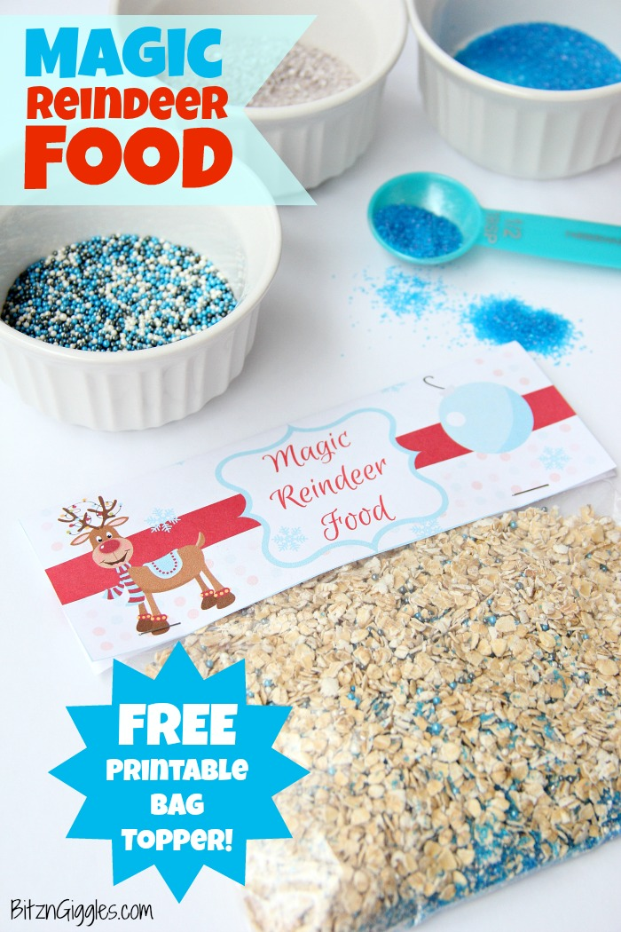 Magic Reindeer Food With Free Printable - Bitz  Giggles