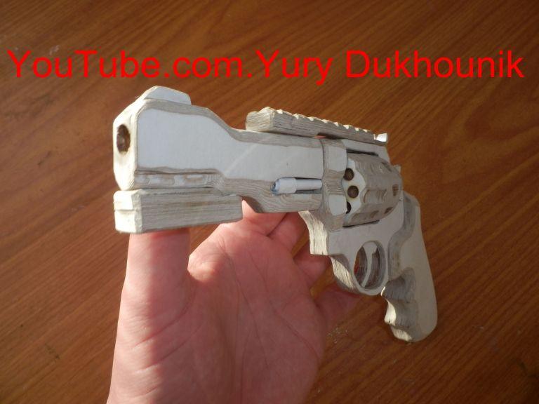 Papercraft Pistol 15 Best How to Make A Gun Revolver R8 Paper Images