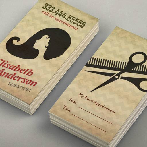 Hairstylist Beauty Salon Appointment Reminder Card Business Card