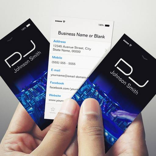 iPhone iOS Style - Turntable Scratching Music Dj Business Card